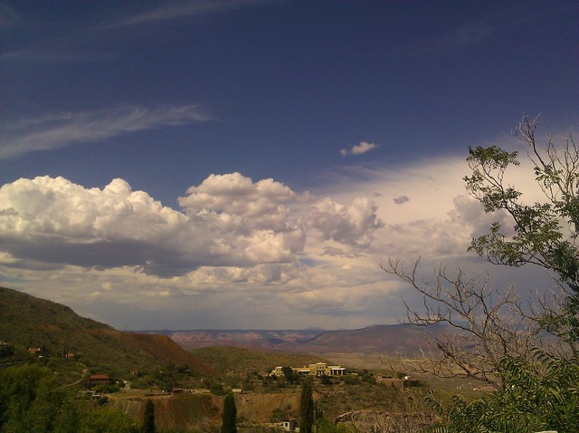 Jerome arizona view, nature landscapes.