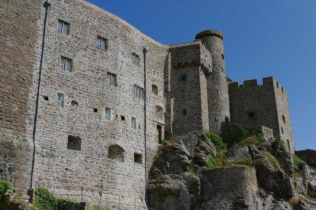 Jersey castle orgueil, nature landscapes.