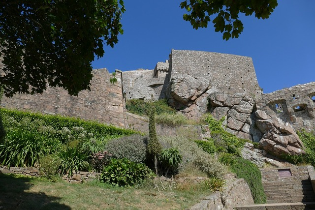 Jersey castle orgueil, nature landscapes.