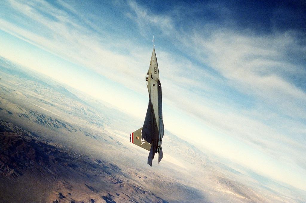 Jet fighter vertical.