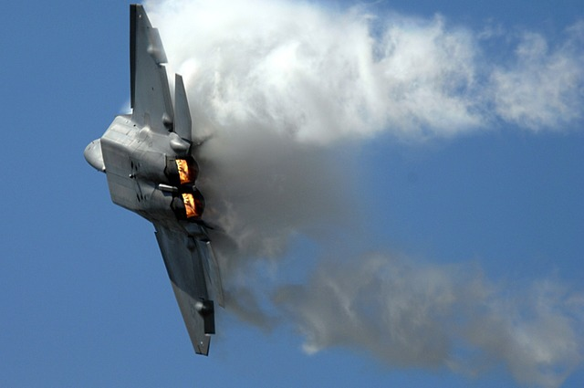 Jet military airplane.