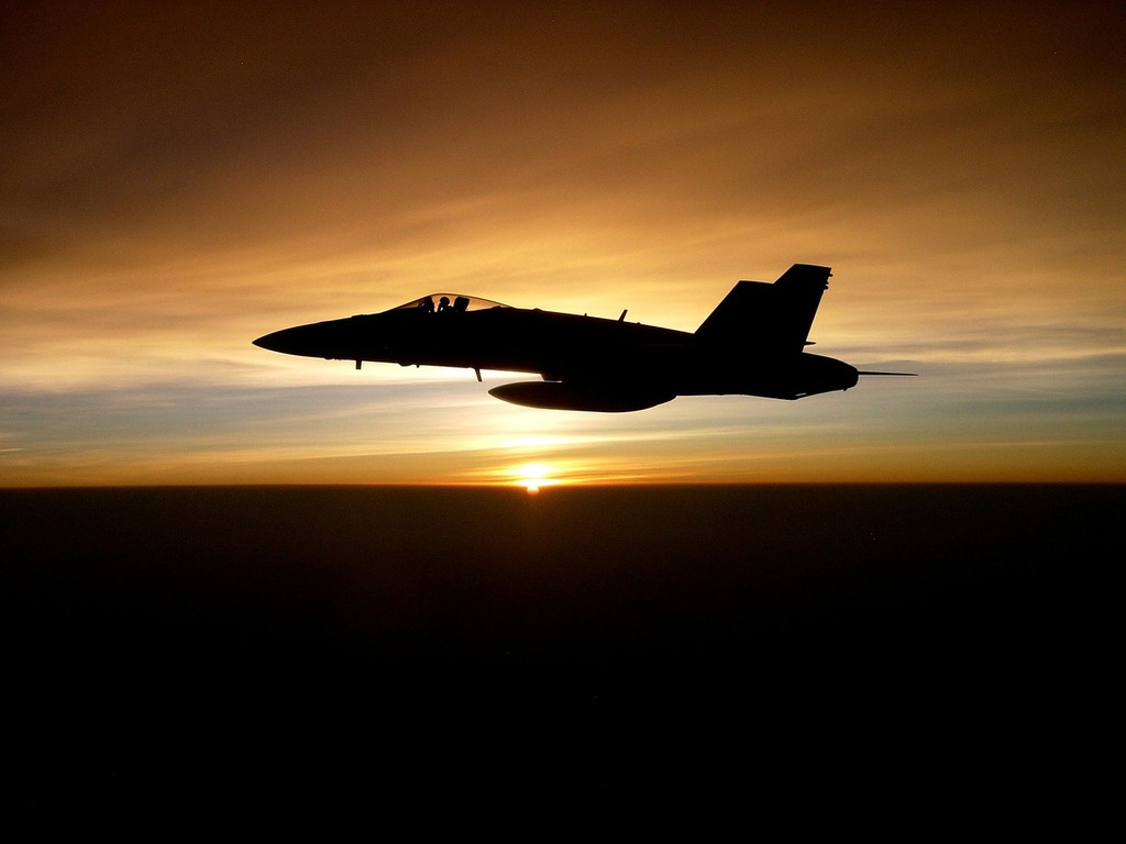 Jet military silhouette, travel vacation.