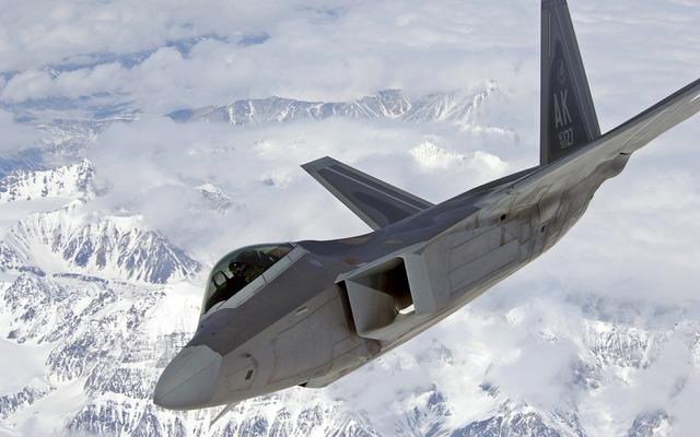 Jet raptor f-22.