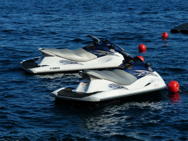Jet ski personal watercraft jet boat.