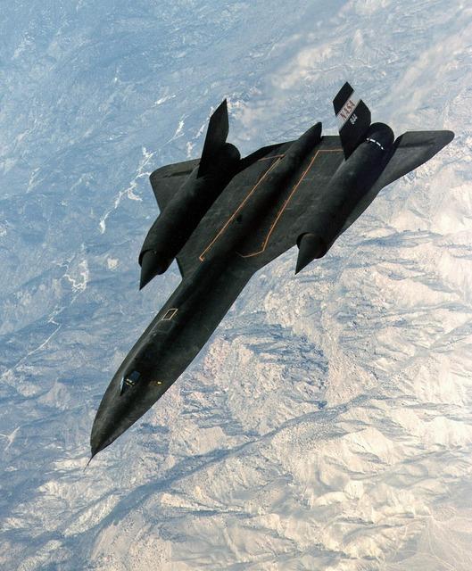 Jet sr 71 reconnaissance.