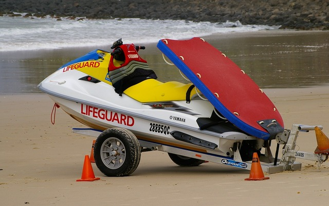 Jetski lifeguard rescue, travel vacation.