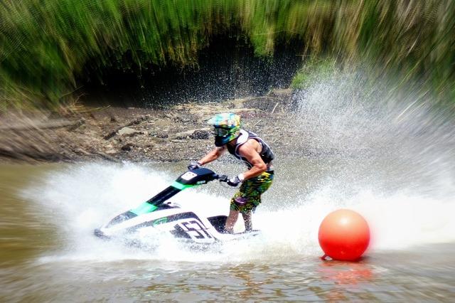 Jetski splash water splashes.