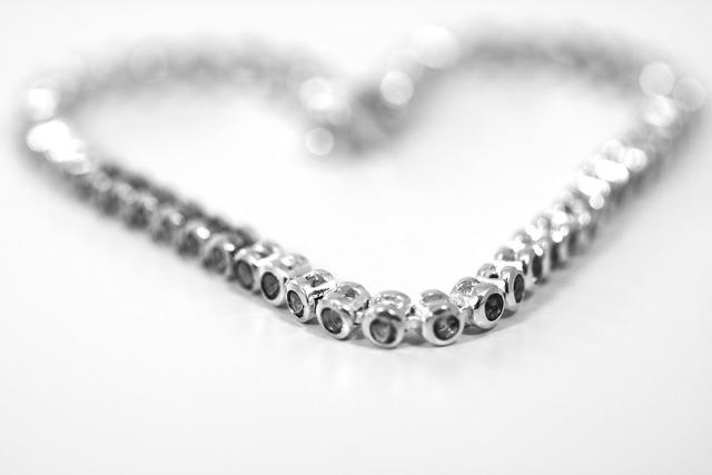 Jewellery heart necklace, beauty fashion.