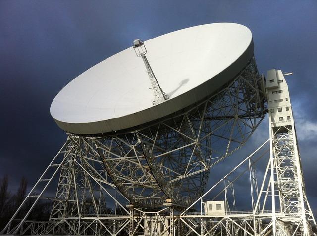 Jodrell bank telescope space, science technology.
