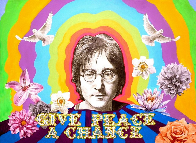 John lennon beatles peace, emotions.