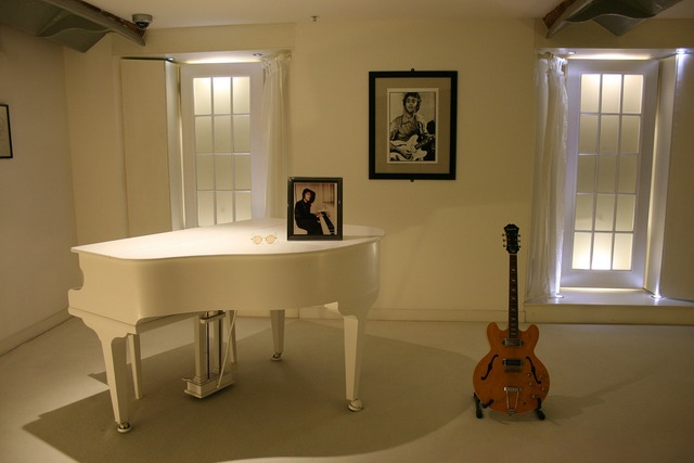John lennon white piano guitar.