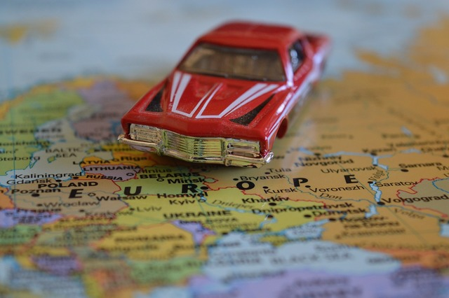 Journey car europe, transportation traffic.