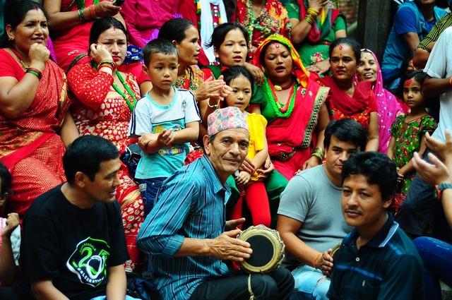 Joy nepal festival, people.