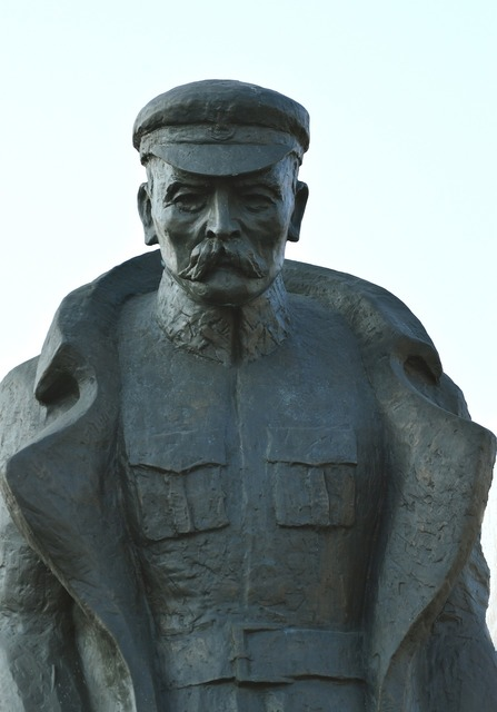 Jozef pilsudski monument marshal, architecture buildings.