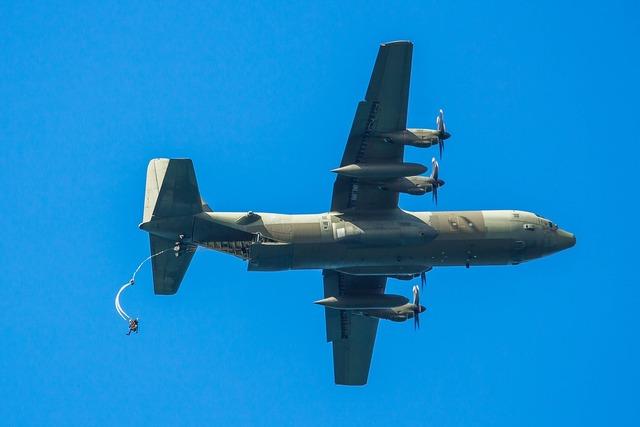 Jump a parachute aircraft, sports.
