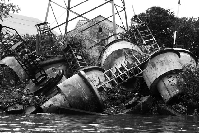 Junk metal pile scrap, industry craft.