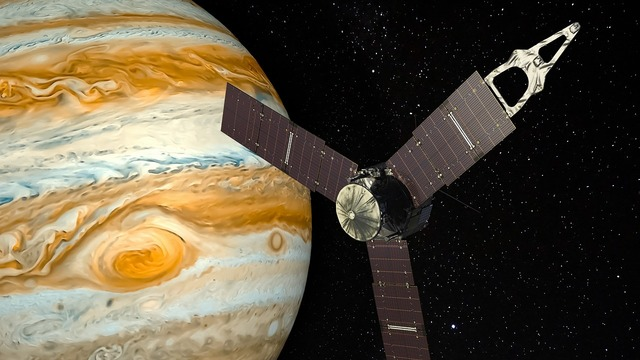 Jupiter planet space probe, science technology.