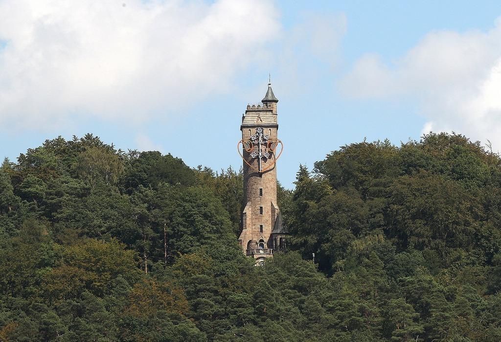 Kaiser wilhelm turm mirror pleasure tower observation tower.