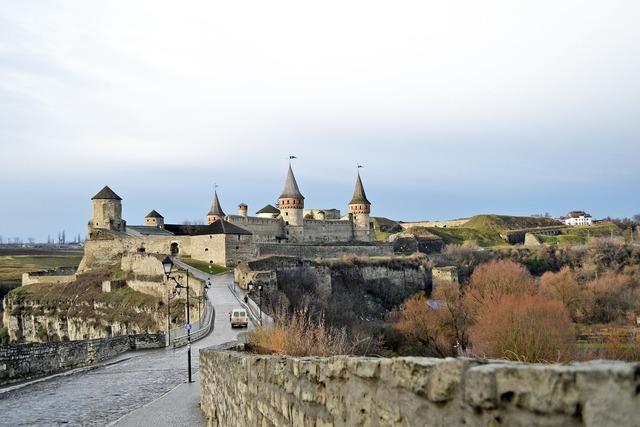 Kamyanets-podolsky castle ukraine, travel vacation.