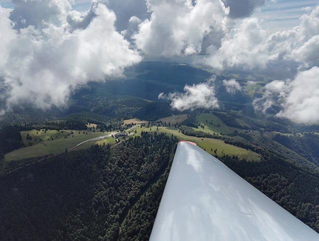Kandel from the glider black forest, nature landscapes.