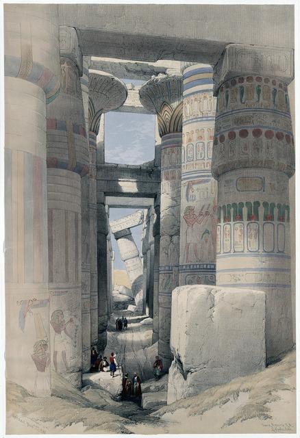 Karnak temple pillared hall columnar.