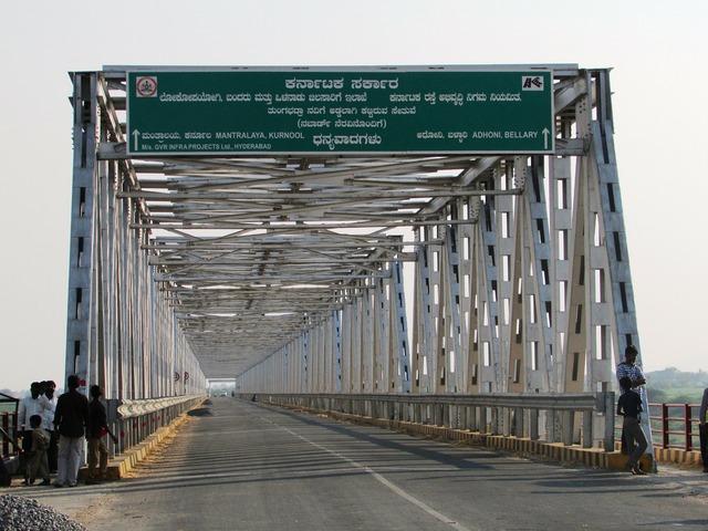 Karnataka andhra bridge india.