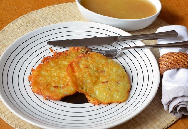 Kartoffelpuffer potato fritter potato.
