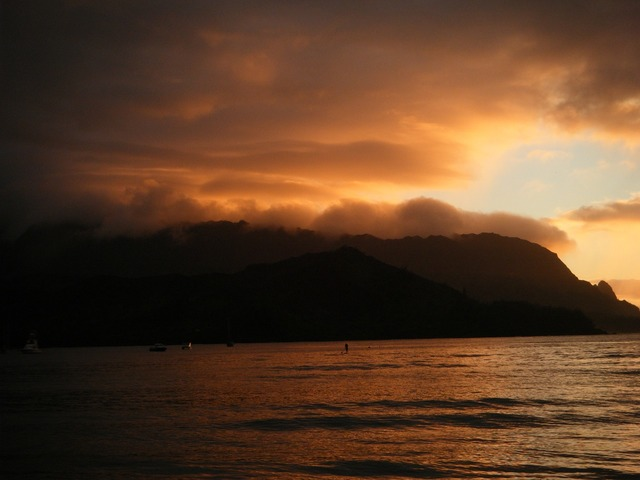 Kauai hawaii beach, travel vacation.