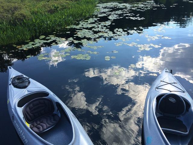 Kayak lake watersports.