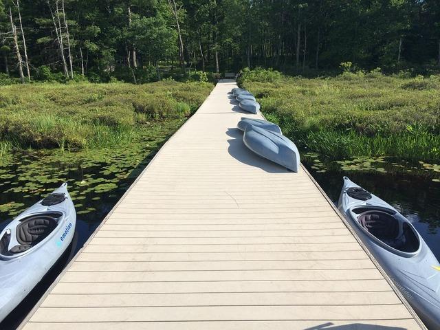 Kayak pier watersports.