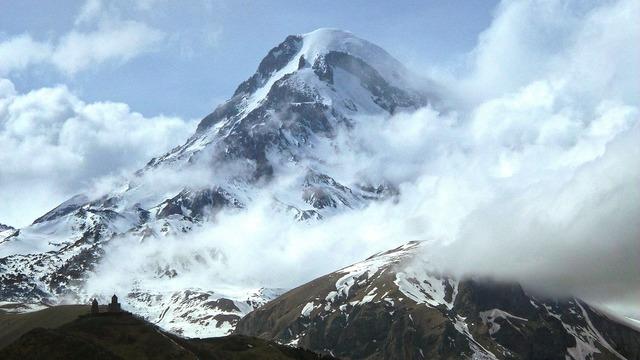 Kazbek the caucasus mountains.