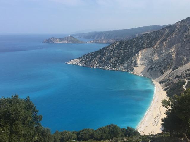 Kefalonia myrtos beach, travel vacation.