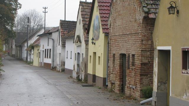 Kellergasse wine wine village, architecture buildings.