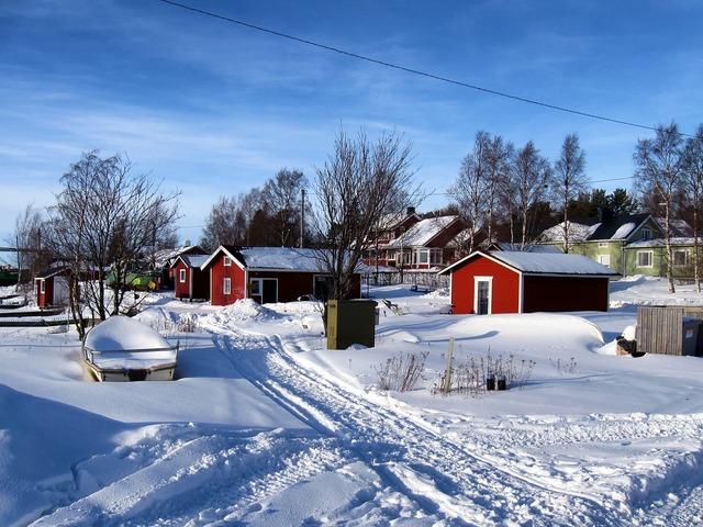 Kello finland fishing village, architecture buildings.