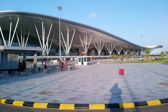 Kempegowda international airport bangalore bengaluru, architecture buildings.