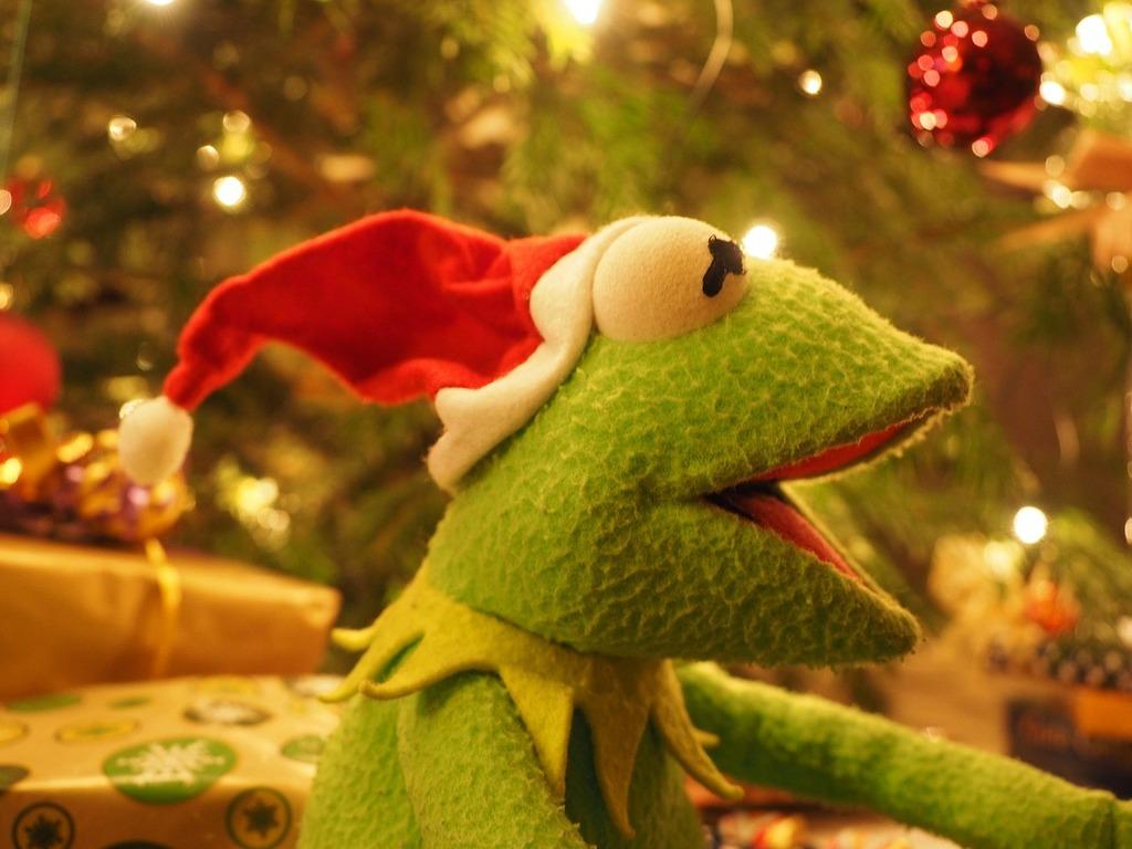 Kermit frog christmas frog. | PICRYL
