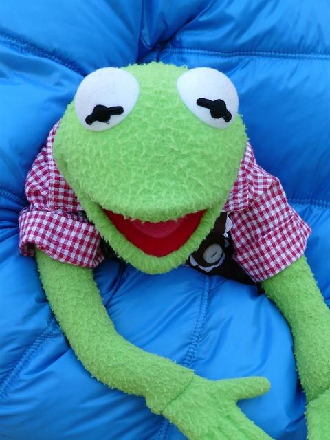 Kermit green frog.