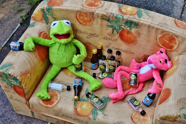 Kermit the pink panther friends, food drink.