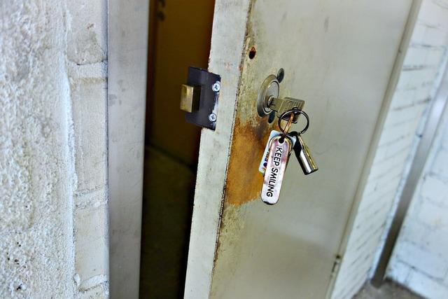 Key lock door, architecture buildings.