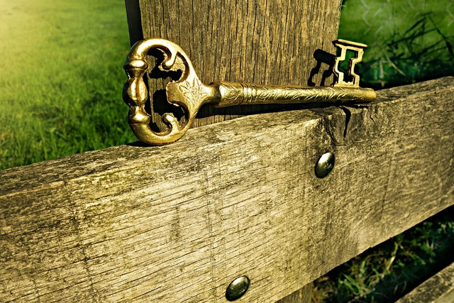 Key metal entrance.