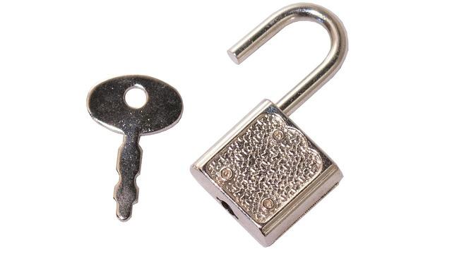 Key padlock lock.