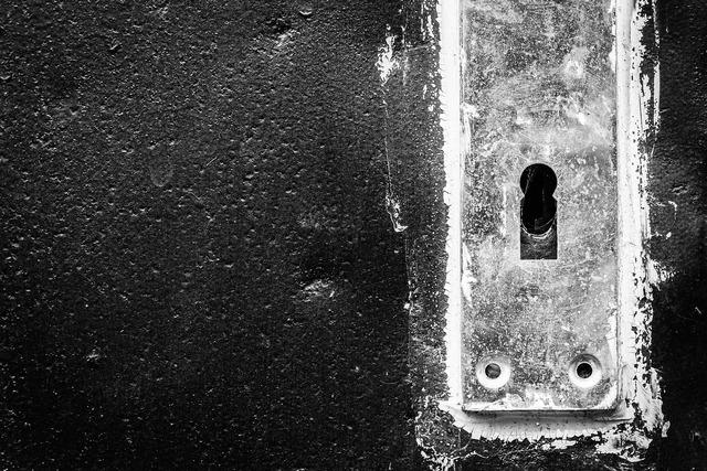Keyhole door handle.