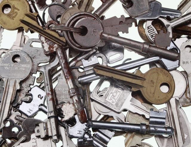 Keys collection metal.