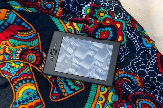 Kindle ereader ebook, travel vacation.
