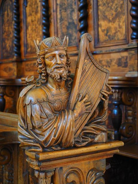 King harp harpist, religion.