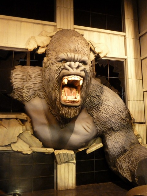 King kong wax museum wax figure, emotions.