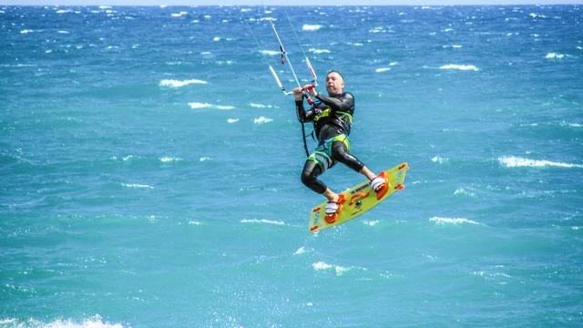 Kite surf sport, sports.