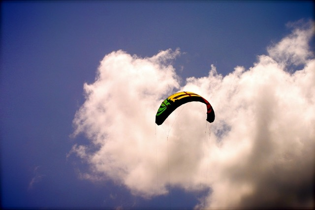 Kite surfing kite-boarding kite, travel vacation.