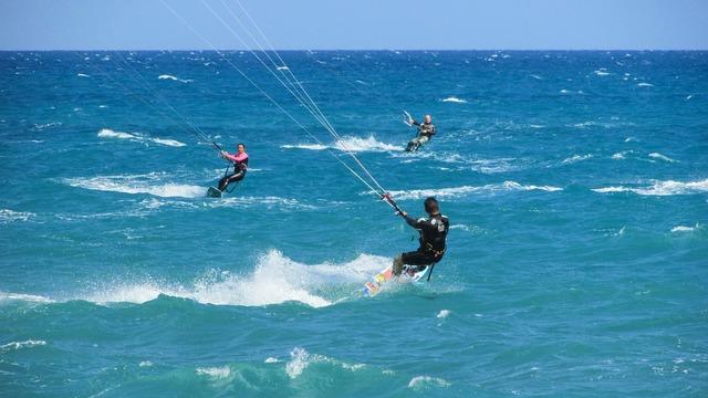 Kiteboarding kite surf, sports.