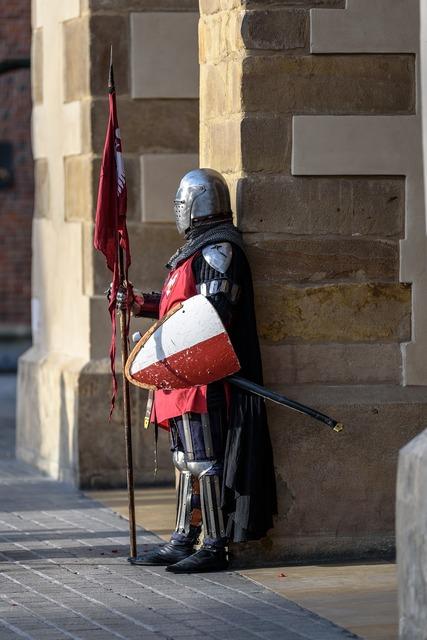 Knight armor armament.